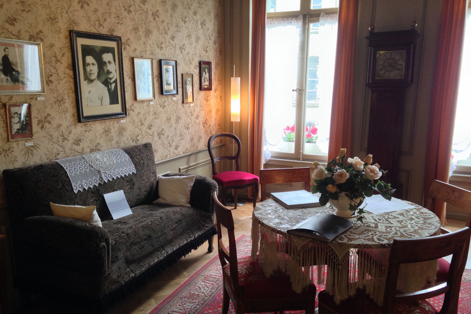 Albert Einstein apartment in Bern, the city where the neuro e-Lab lead by Maxime Baud does work on epilepsy